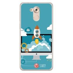 Funda Gel Tpu para Huawei Honor 6C / Nova Smart Diseño Cohete Dibujos