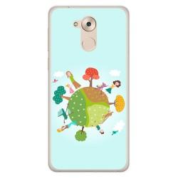 Funda Gel Tpu para Huawei Honor 6C / Nova Smart Diseño Familia Dibujos