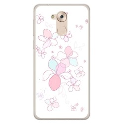Funda Gel Tpu para Huawei Honor 6C / Nova Smart Diseño Flores Minimal Dibujos