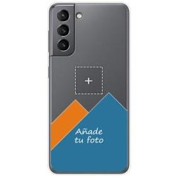 Personaliza tu Funda Doble Pc + Tpu 360 con tu Fotografia para Samsung Galaxy S21 5G dibujo personalizada
