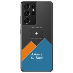 Personaliza tu Funda Doble Pc + Tpu 360 con tu Fotografia para Samsung Galaxy S21 Ultra 5G dibujo personalizada