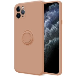Funda Silicona Líquida Ultra Suave con Anillo para Iphone 11 Pro (5.8) color Rosa