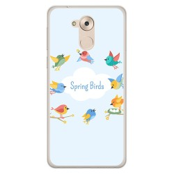 Funda Gel Tpu para Huawei Honor 6C / Nova Smart Diseño Spring Birds Dibujos