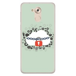 Funda Gel Tpu para Huawei Honor 6C / Nova Smart Diseño Nube Dibujos