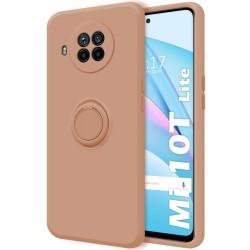 Funda Silicona Líquida Ultra Suave con Anillo para Xiaomi Mi 10T Lite color Rosa