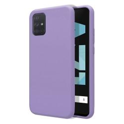 Funda Silicona Líquida Ultra Suave para Samsung Galaxy A71 color Morada