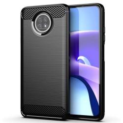 Funda Gel Tpu Tipo Carbon Negra para Xiaomi Redmi Note 9T 5G
