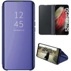 Funda Flip Cover Clear View para Samsung Galaxy S21 Ultra 5G color Azul