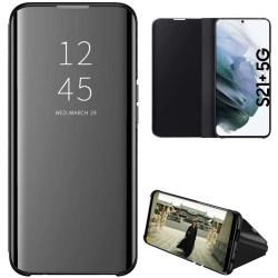 Funda Flip Cover Clear View para Samsung Galaxy S21+ Plus 5G color Negra