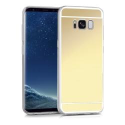 Funda Gel Tpu Efecto Espejo Dorada para Samsung Galaxy S8 Plus