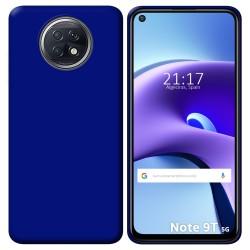 Funda Silicona Gel TPU Azul para Xiaomi Redmi Note 9T 5G