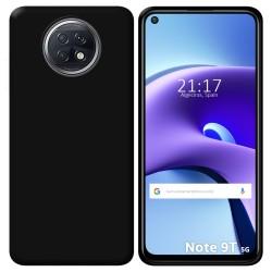 Funda Silicona Gel TPU Negra para Xiaomi Redmi Note 9T 5G