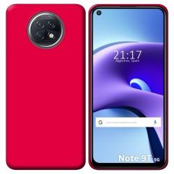 Funda Silicona Gel TPU Rosa para Xiaomi Redmi Note 9T 5G