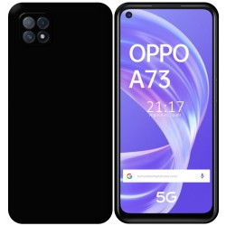Funda Silicona Gel TPU Negra para Oppo A73 5G