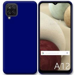 Funda Silicona Gel TPU Azul para Samsung Galaxy A12