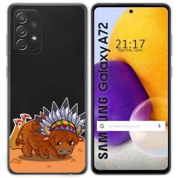 Funda Gel Transparente para Samsung Galaxy A72 diseño Bufalo Dibujos