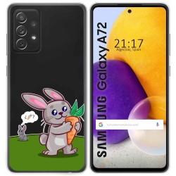 Funda Gel Transparente para Samsung Galaxy A72 diseño Conejo Dibujos