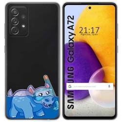 Funda Gel Transparente para Samsung Galaxy A72 diseño Hipo Dibujos