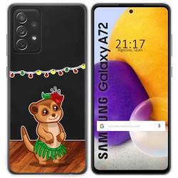 Funda Gel Transparente para Samsung Galaxy A72 diseño Suricata Dibujos