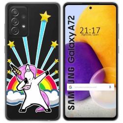 Funda Gel Transparente para Samsung Galaxy A72 diseño Unicornio Dibujos