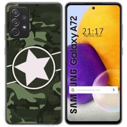 Funda Gel Tpu para Samsung Galaxy A72 diseño Camuflaje 01 Dibujos