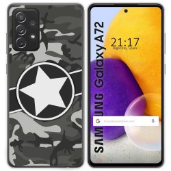 Funda Gel Tpu para Samsung Galaxy A72 diseño Camuflaje 02 Dibujos