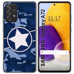Funda Gel Tpu para Samsung Galaxy A72 diseño Camuflaje 03 Dibujos