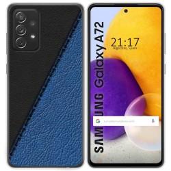 Funda Gel Tpu para Samsung Galaxy A72 diseño Cuero 02 Dibujos