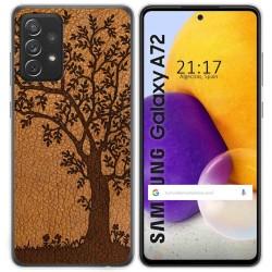 Funda Gel Tpu para Samsung Galaxy A72 diseño Cuero 03 Dibujos