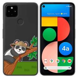 Funda Gel Transparente para Google Pixel 4a diseño Panda Dibujos