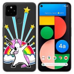 Funda Gel Transparente para Google Pixel 4a diseño Unicornio Dibujos