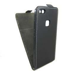Funda Piel Premium Negra Ultra-Slim para Huawei P10 Lite
