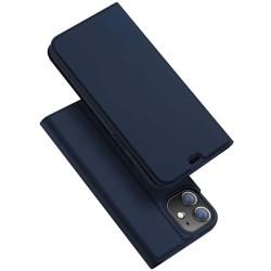 Funda Piel Soporte Magnética Dux Ducis para Iphone 12 / 12 Pro (6.1) color Azul