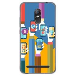 Funda Gel Tpu para Zte Nubia N1 Lite Diseño Apps Dibujos