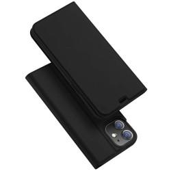 Funda Piel Soporte Magnética Dux Ducis para Iphone 12 Mini (5.4) color Negra