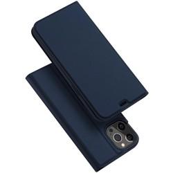 Funda Piel Soporte Magnética Dux Ducis para Iphone 12 Pro Max (6.7) color Azul