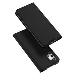 Funda Piel Soporte Magnética Dux Ducis para Samsung Galaxy A32 5G color Negra