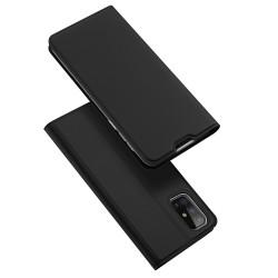 Funda Piel Soporte Magnética Dux Ducis para Samsung Galaxy M31s color Negra