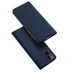 Funda Piel Soporte Magnética Dux Ducis para Samsung Galaxy M51 color Azul