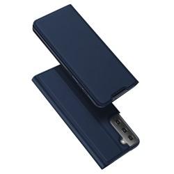 Funda Piel Soporte Magnética Dux Ducis para Samsung Galaxy S21+ Plus 5G color Azul