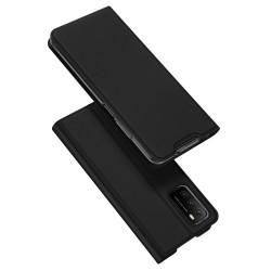 Funda Piel Soporte Magnética Dux Ducis para Xiaomi POCO M3 / Redmi 9T color Negra