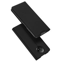 Funda Piel Soporte Magnética Dux Ducis para Xiaomi Redmi Note 9T 5G color Negra