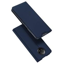 Funda Piel Soporte Magnética Dux Ducis para Xiaomi Redmi Note 9T 5G color Azul