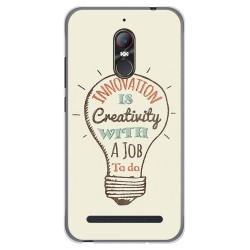 Funda Gel Tpu para Zte Nubia N1 Lite Diseño Creativity Dibujos