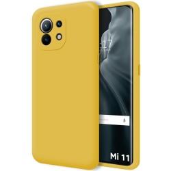 Funda Silicona Líquida Ultra Suave para Xiaomi Mi 11 / Mi 11 Pro color Amarilla