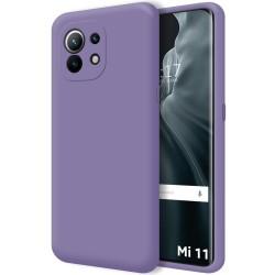 Funda Silicona Líquida Ultra Suave para Xiaomi Mi 11 / Mi 11 Pro color Morada