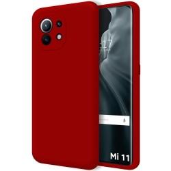 Funda Silicona Líquida Ultra Suave para Xiaomi Mi 11 / Mi 11 Pro color Roja