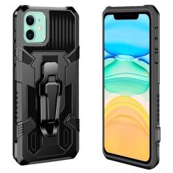 Funda Tough Armor Negra con Clip Magnético para Iphone 11 (6.1)