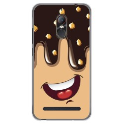 Funda Gel Tpu para Zte Nubia N1 Lite Diseño Helado Chocolate Dibujos