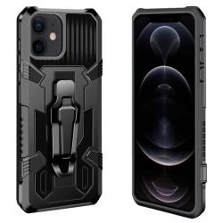 Funda Tough Armor Negra con Clip Magnético para Iphone 12 / 12 Pro (6.1)